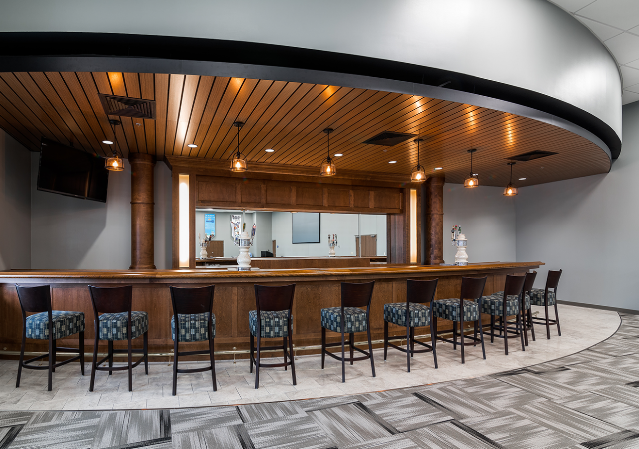 Beverage/Bar Area at Goldring Gulf Distributing Center Built by ARCO Construction in Florida